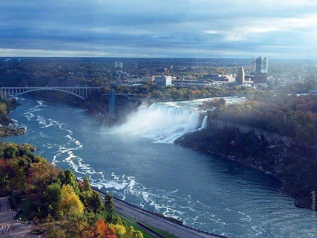 ниагарский водопад со стороны сша