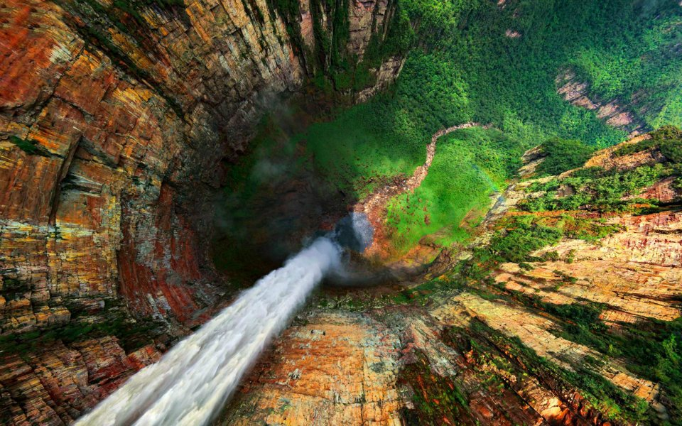 водопад Анхель виды