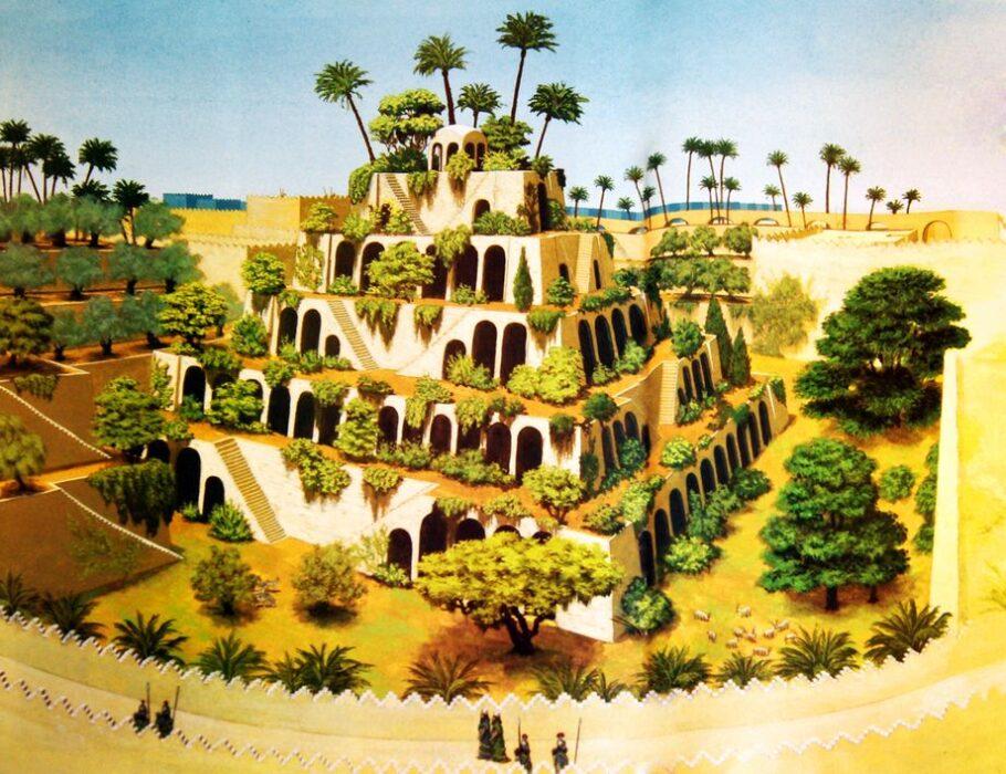 Висячие сады Семирамиды Вавилон