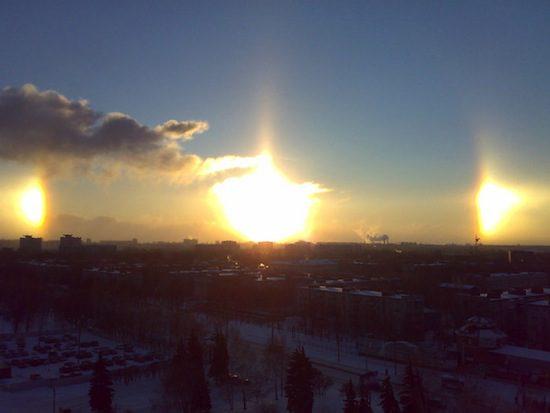 паргелий ложное солнце фото