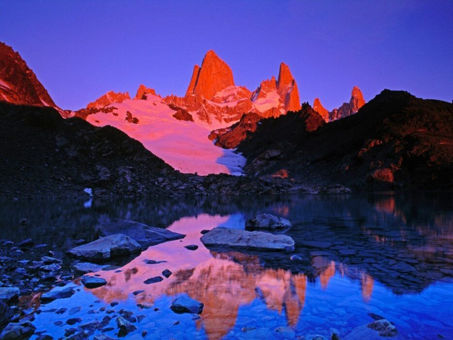 Лос-Гласьярес фото заката
