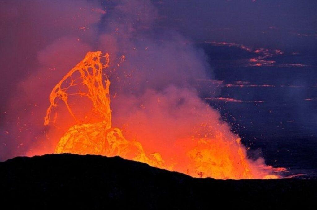 Ньирагонго извержение