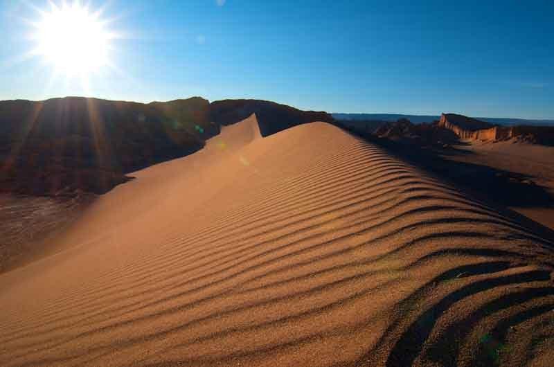 Пустыня Атакама барханы