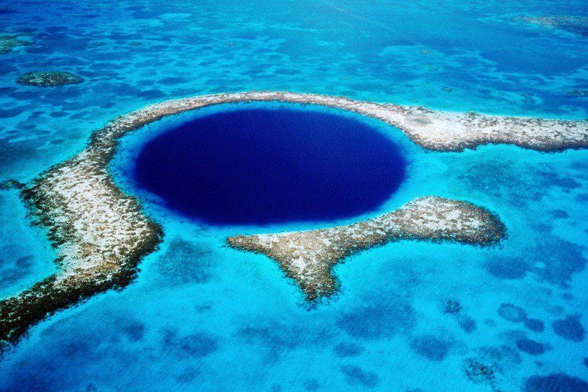большая голубая дыра белиза фото