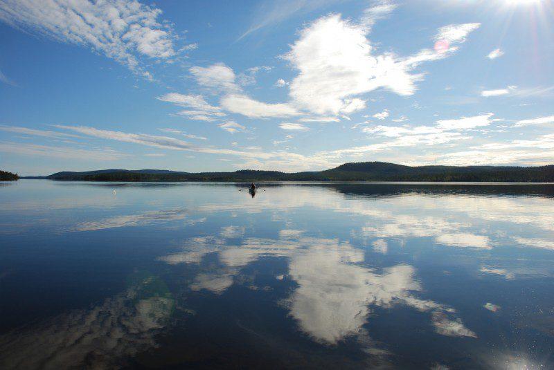 озеро Инари Финляндия фото