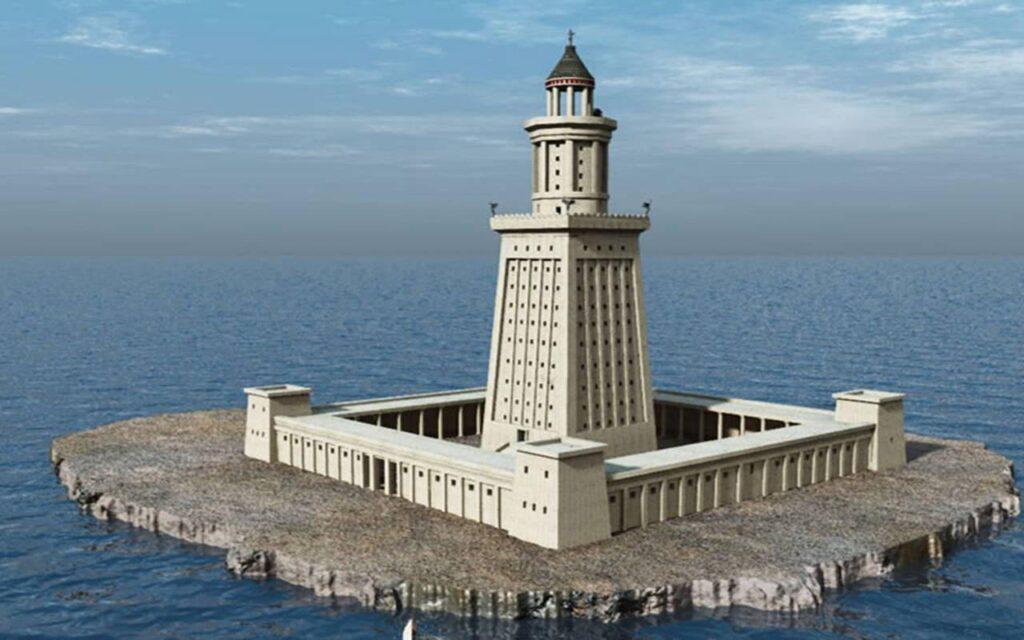 Александрийский маяк краткое описание