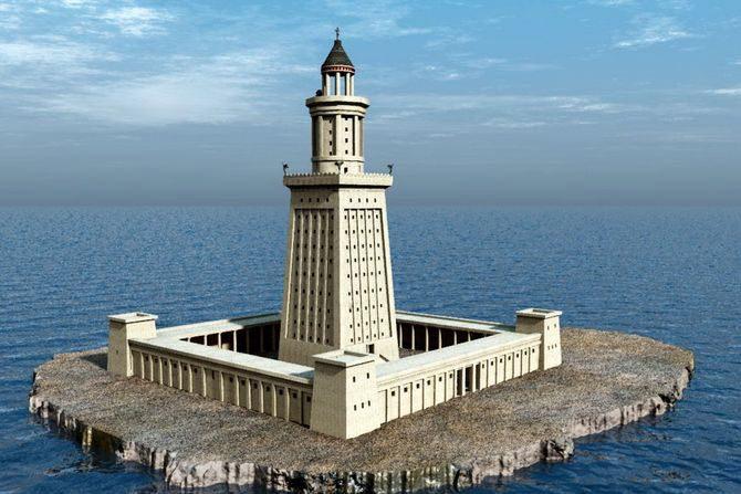 Александрийский маяк чудо света краткое описание