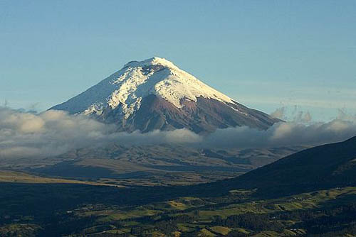 вулкан Котопахи на карте Южной Америки