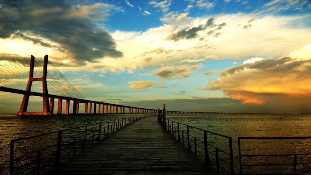 мост Васко да Гама Лиссабон