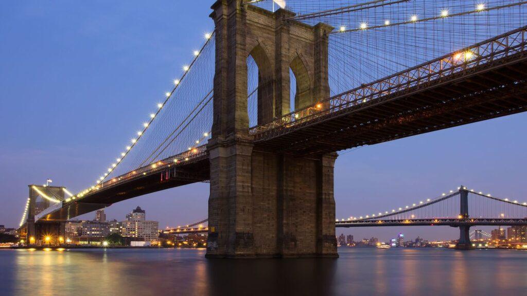 Бруклинский мост фото ночью