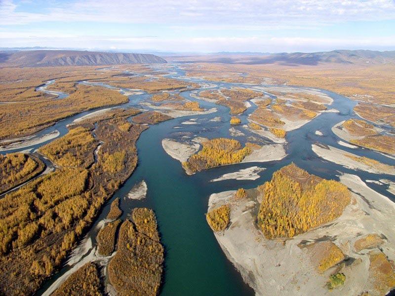 река Индигирка на карте