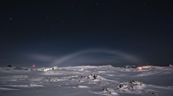Лунная радуга природное явление