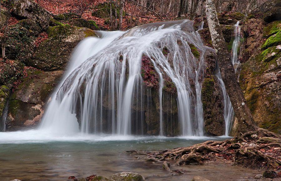 Водопад Джур-Джур каскады выше водопада