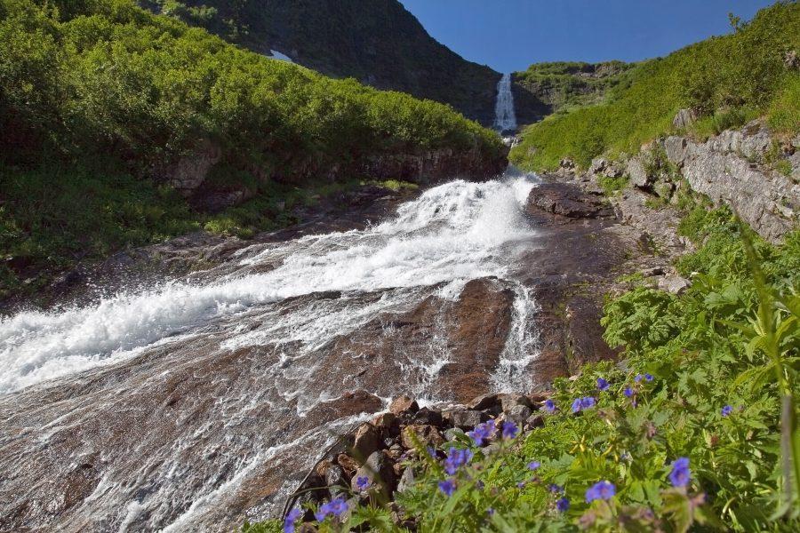 Кинзелюкский водопад в Красноярском крае