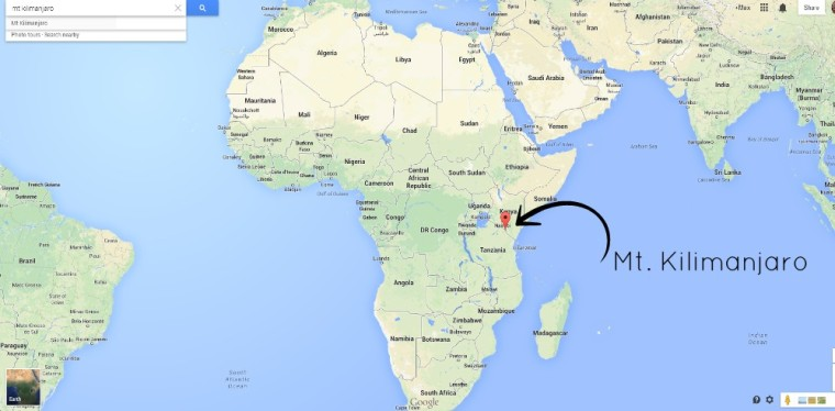Килиманджаро на карте