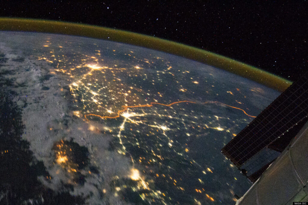 Великая Китайская стена фото из космоса