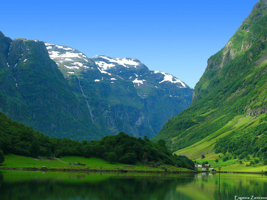 Неройфьорд в Норвегии