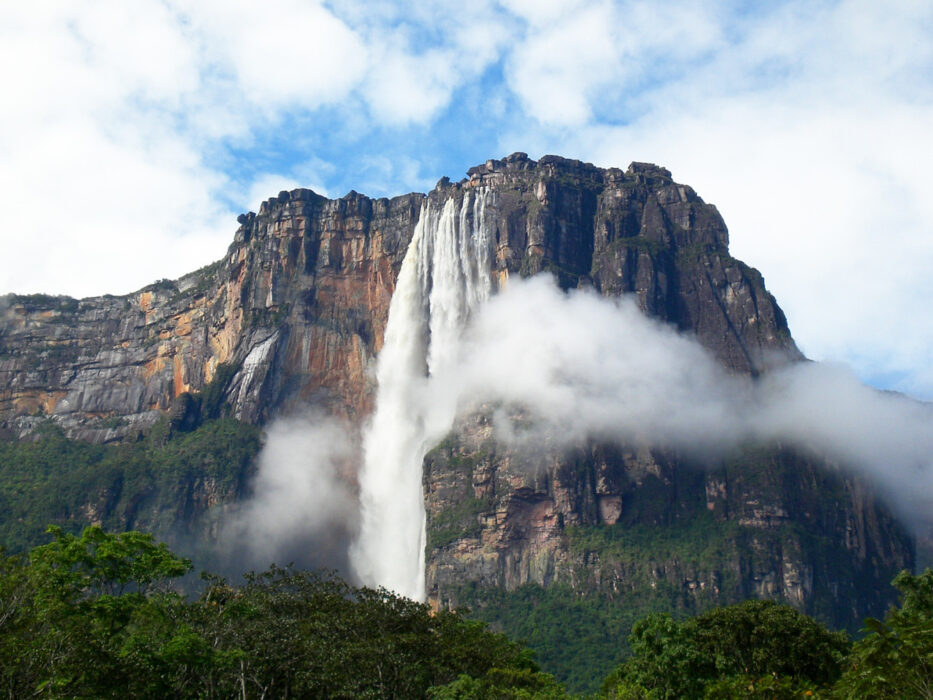 Анхель водопад где находится