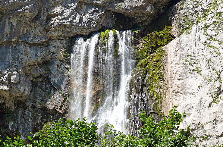 гегский водопад Абхазия фото