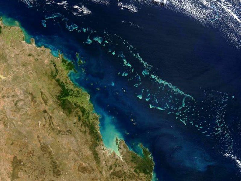 Большой Барьерный риф космос