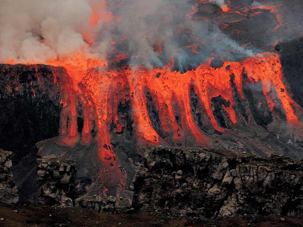 вулкан Ньирагонго извержение