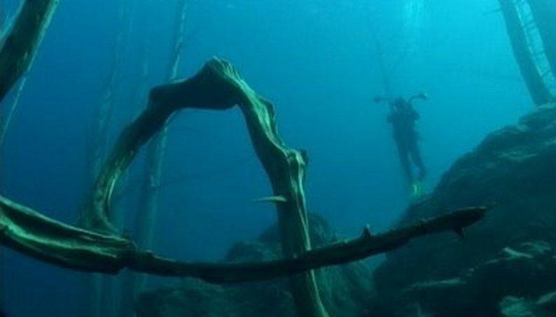 озеро Трафул под водой