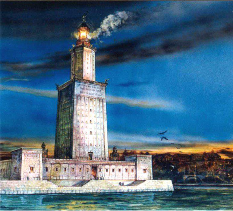 Александрийский маяк чудо света
