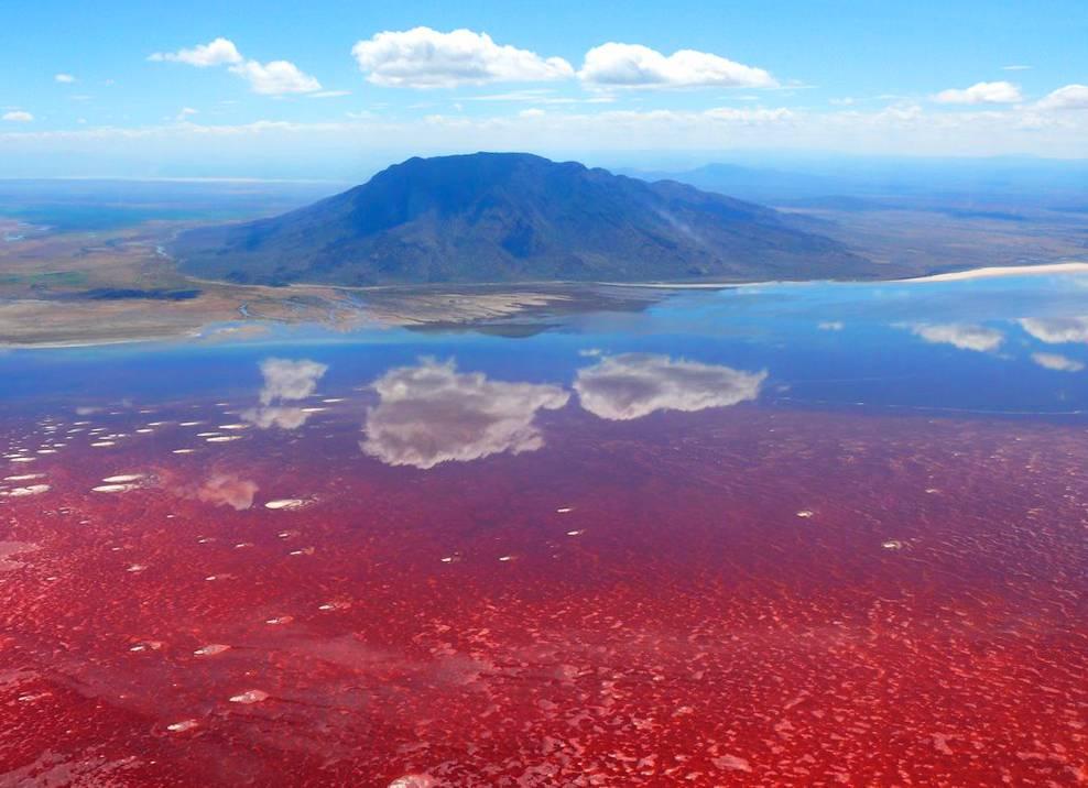 Озеро Натрон в Танзании
