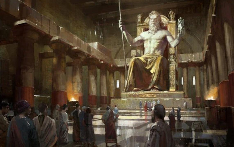 Статуя Зевса В Олимпии чудо света