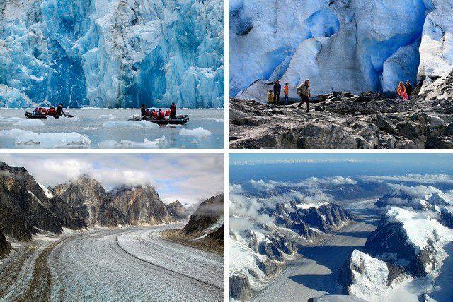 ледники в аляске