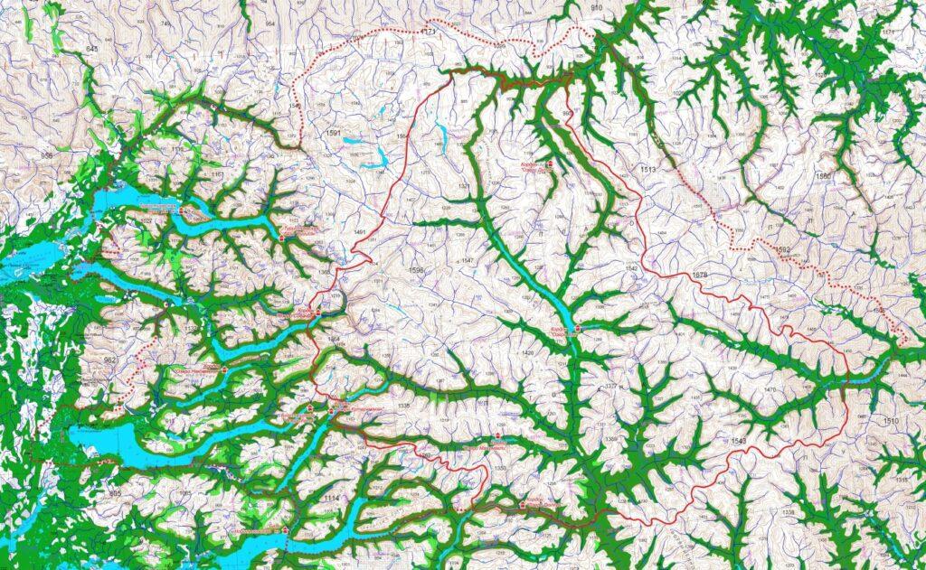 плато Путорана карта