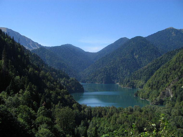 Озеро Рица на карте