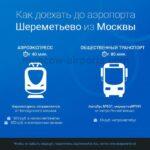 Как добраться в аэропорт Шереметьево