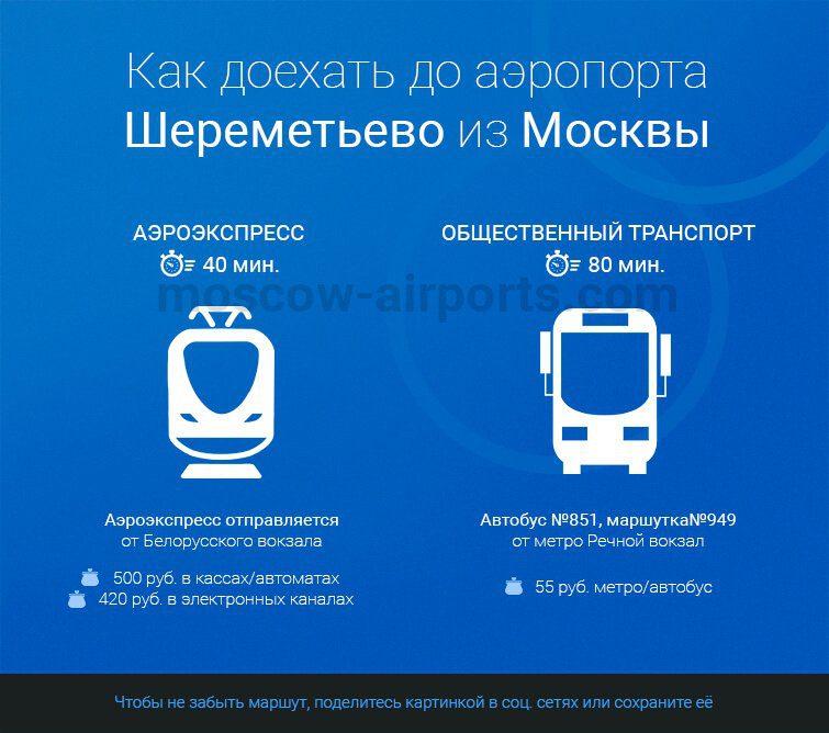 шереметьево как добраться на общественном транспорте